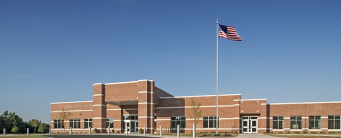 Front of Nations Ford Elementary School, Charlotte-Mecklenburg Schools